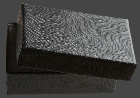 Presentask svarta slingor, 4st, ca 60x38x20 mm. Priset avser 4 stycken.