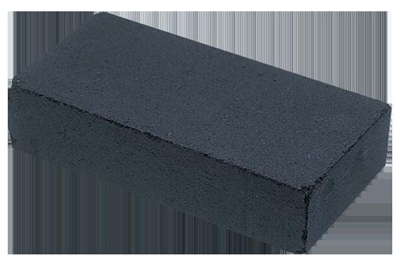 Lödblock av sammanpressat kol, 14 x 7 x 3 cm. Ett kol med bättre livslängd