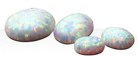 Opal simulerad 8x6 mm oval cabochon