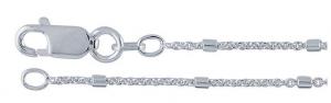 Kedja Sterling 45 cm, 1,2 mm med dekoration av 1,5 mm stavar. En annorlunda och effektfull kedja.