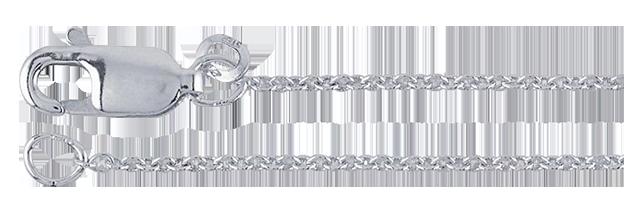Kedja Argentiumsilver 935*),  länk 1,1 mm. 45 cm med lås.
