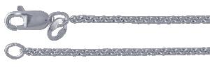 Kedja Argentiumsilver 935*),  länk 1,7 mm. 45 cm med lås.