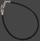Armband gummi avskruvbar ände för pärlor med stort hål, silverlås. Välj längd.