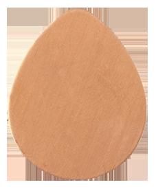 Koppar droppe 29 x 23 mm, 1 mm tjock.