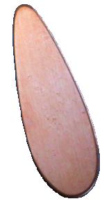 Koppar droppe 38 mm, 1 mm tjock