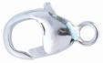 """Lås, """"krabbklo"""" blankpolerat sterlingsilver 12 mm inklusive ringen. Bredd 5,7 mm."""