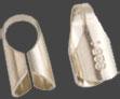 Avslut 2st 3 mm för gummi, läder, siden m.m. Sterlingsilver