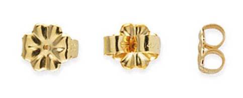 Gold-filled lås för örstick, 5 mm, par