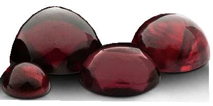 Granat 4 mm rund cabochon