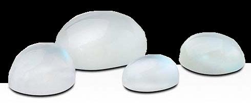 Månsten vit 7x5 mm oval cabochon