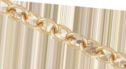 Bronskedja ovala länkar 3,1 mm. Säljs per 0,5 meter.