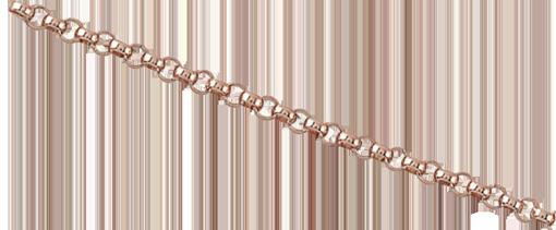 Kedja Gold-filled 14K Rose gold rollokedja, länk 1,6 mm. Säljs per 10cm