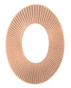 Koppar texturerad oval 38 x 28 mm, 1 mm tjock
