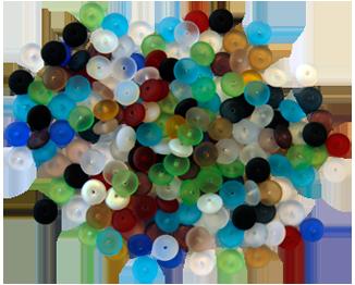 Abaccuspärla 100 st sorterade färger.