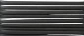 Gummislang svart 1,7 mm, invändigt 1,2 mm, per meter.