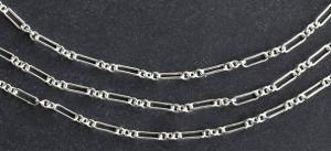 Kedja Argentiumsilver 935*), rektangulär länk. Säljs per 10 cm