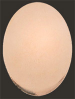 Koppar oval 30x22 mm. Massiv platt 1 mm tjock koppar.
