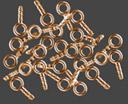 Fästögla brons 25 st. Hål 1,6 mm , totallängd 6mm.