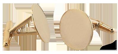 Manchettknappar Brons med en platta på 14 mm. Priser är per par.