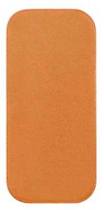 Koppar rektangel 26 x 12 mm, 1 mm tjock kopparplåt med rundade hörn