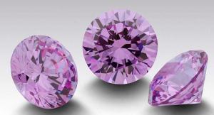 Zirkonia Lavendel 3 mm. Brilliantslipad. Priset är för 1 st