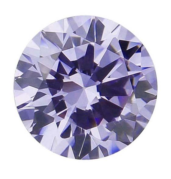 Zirkonia Lavendel 5 mm. Brilliantslipad. Priset är för 1 st.