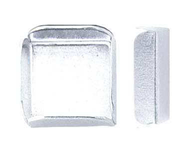 Chatong Sterling Silver 6x6 kvadrat med öppen spalt, sätthöjd 3,3mm