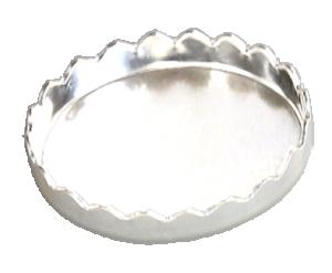 Stenkista finsilver oval 10 x 8 mm flikig kant. Sätthöjd 1,9 mm