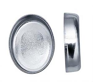 Stenkista finsilver 8x6 mm oval. Sätthöjd 1,9 mm