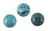 Turkos / Turquoise 6mm rund cabochon, färgen kan variera mellan himmelsblå till blågrön till gulgrön. Naturlig.