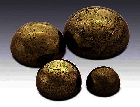 Pyrite 6 mm rund cabochon