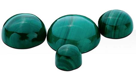Malachite 8 mm rund cabochon