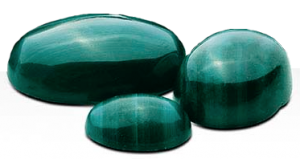 Malachite 10x8 mm oval cabochon