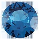 Zirkonia Stålblå 2 mm, 2 st. Priset är för två stycken.
