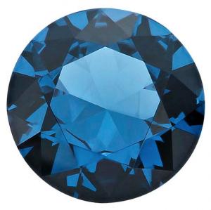 Zirkonia Stålblå 4 mm rund facettslipad