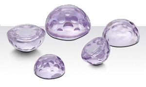 Lavendel Zirkonia 4 mm rund cabochon slipade cirklar