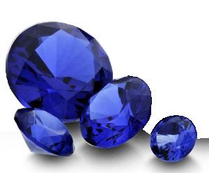Blå Spinel 3 mm rund facetterad (labratorietillverkad)