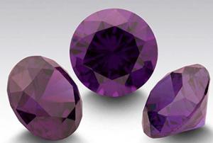 Zirkonia Ametistfärg mörk, 2 st 3mm rund. Priset är för 2 st.