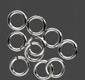 Bindring Silver-filled 10st 6,5 mm ytterdiameter, 5 mm innerdiameter Öppna.