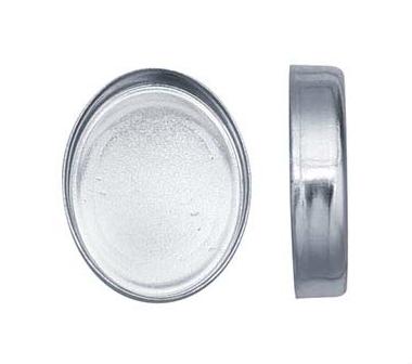 Stenkista finsilver 10 x 8 mm oval. Sätthöjd 2,2 mm
