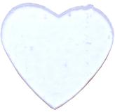 Täckglas Hjärta, stort ca 3,5 cm brett