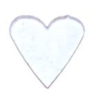 Täckglas Hjärta, litet ca 2,7 cm brett