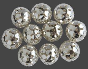 Filigrankulor 10st, 14mm silverton. Priset är för 10 st.