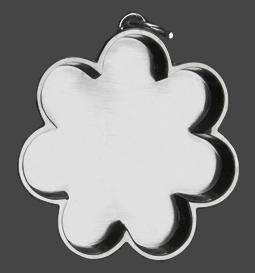 Hänge blomma försilvrad med upphäng, c 3 cm Design Lisa Pavelka