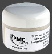 SEPP vax för att motverka att silverlera fastnar på verktyg, underlag, händer.