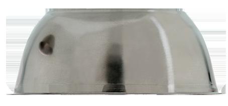 Slumpingskål 125 x 50 mm rostfritt stål. Kan användas för slumping till ljus- eller karamellskål