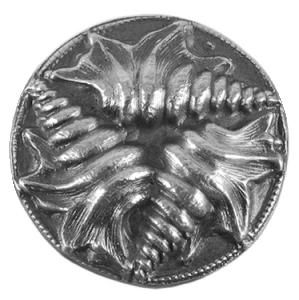 Silikonform Tre snäckor ca 2,3 cm mönster.