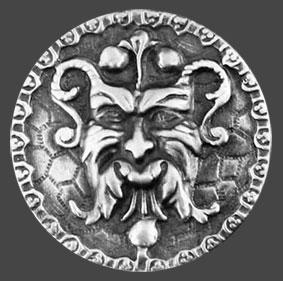 Silikonform Gargoyle ca 3,2 cm mönster.