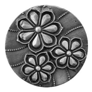 Silikonform Tre blommor 3,4 cm
