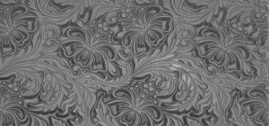 Gummimatta Hibiscus 10x5 cm